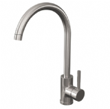 Brushed Stainless Steel Curved Spout Monobloc Sink Tap - 584K2022